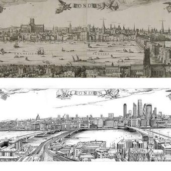 The London Skyline 1616 v 2016: Visscher's Engraving Updated And Interactive