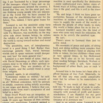 Leonard Nimoy Speaks Out on LSD, Religion and Dirty Movies (Jan. 1968)