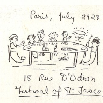 F. Scott Fitzgerald's Sketch Of An Odd Dinner With His Hero James Joyce (1928)