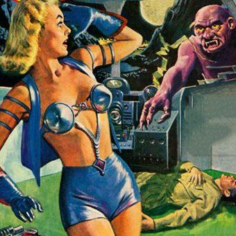 Metallic Bras from Space! Sci-Fi Pulp Ladies & Their Shiny Metal Brassieres