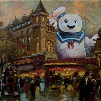 Re-Directed Art: Tired Thrift Store Paintings Become Modern Masterpieces
