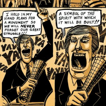 Donald Trump Built A Huge Wall Across New York In Peter Kuper's 1990 Comic