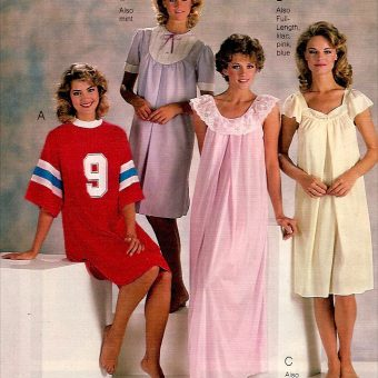 Frilly Nightgowns to Garfield Pajamas: 1980s Women's Sleepwear Catalog Pages